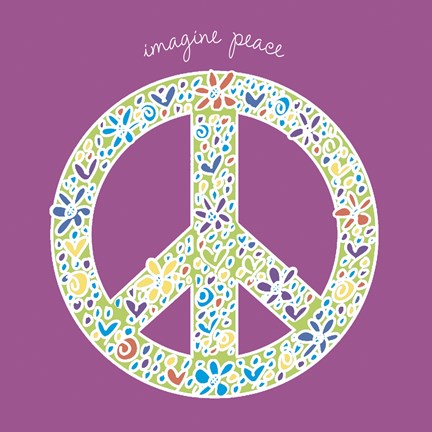 Framed Imagine Peace Print