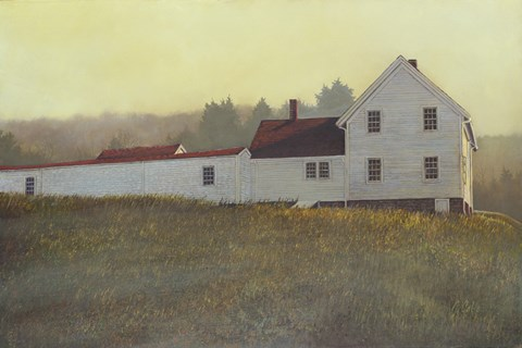 Framed Autumn Sunset Monhegan Print