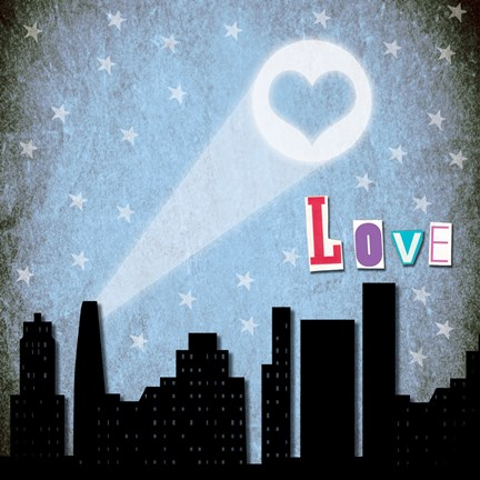 Framed Love Skyline Print