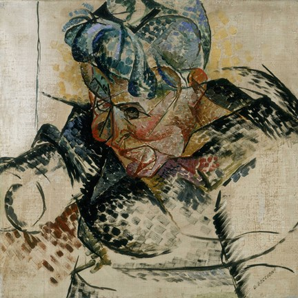 Study of the Head, Portrait of the Artist's Mother 1912 by Umberto Boccioni
