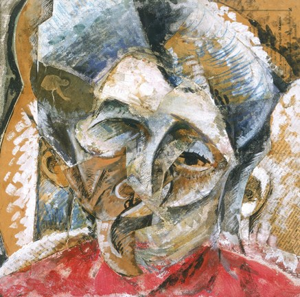 Dynamic Composition with a Woman's Head by Umberto Boccioni