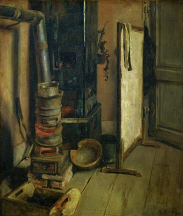 Framed Corner of a Painter's Study, the Stove Print