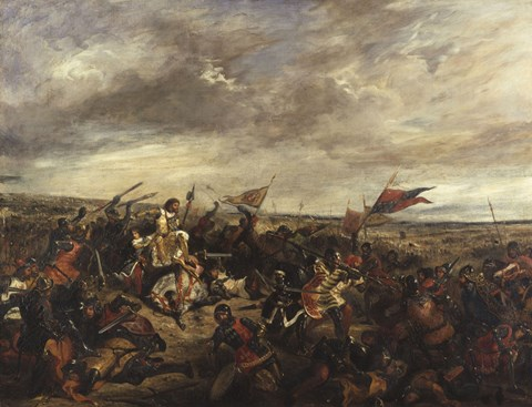 The Battle Of Poitiers 1830 Fine Art Print By Eugene