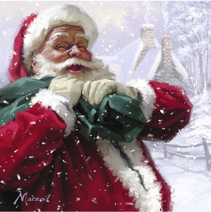 Jolly Santa Fine Art Print By The Macneil Studio At