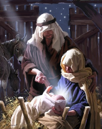 Joseph And Mary Fine Art Print By The Macneil Studio At
