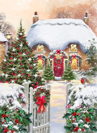 Winter Cottages 1 Fine Art Print By The Macneil Studio At