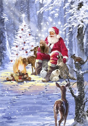Santa S Campfire Fine Art Print By The Macneil Studio At
