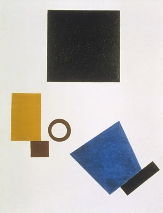 Framed Suprematism: Self-Portrait in Two Dimensions, 1915 Print