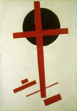 Framed Red Cross on Black Circle, 1920-27 Print
