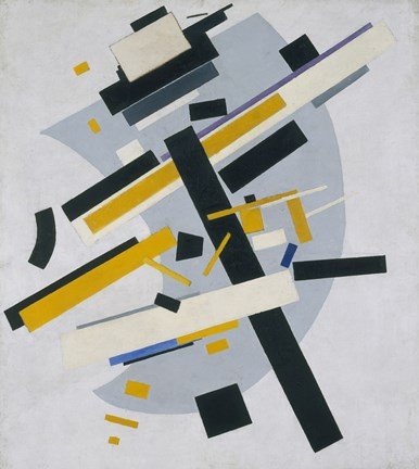 Framed Suprematism (Supremus, no 58 Black and Yellow), 1916 Print