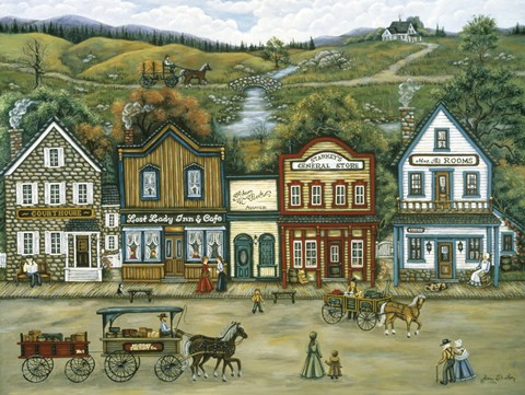 Framed Mining Town Of Murray Print