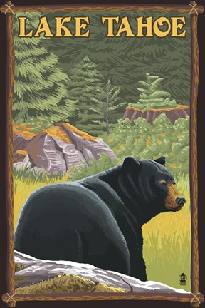 Lake Tahoe Bear Fine Art Print By Lantern Press At