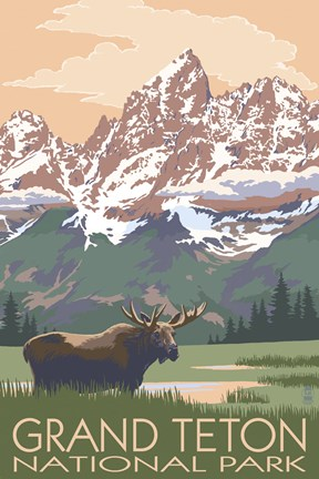 Grand Teton National Park Moose Fine Art Print By Lantern