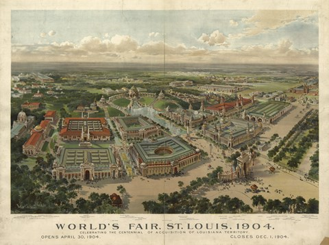 Framed St Louis Worlds Fair Print