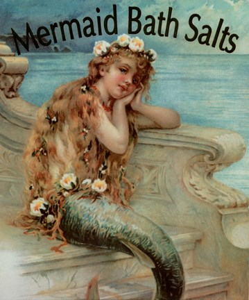 Framed Mermaid Bathsalts Print