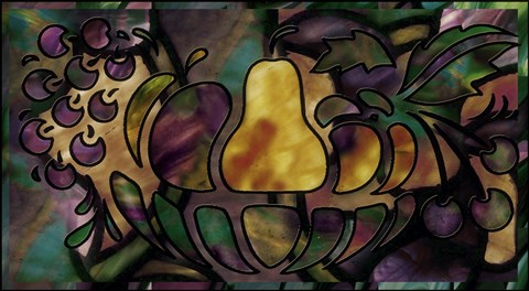 Framed Stained Glass Fruit Print