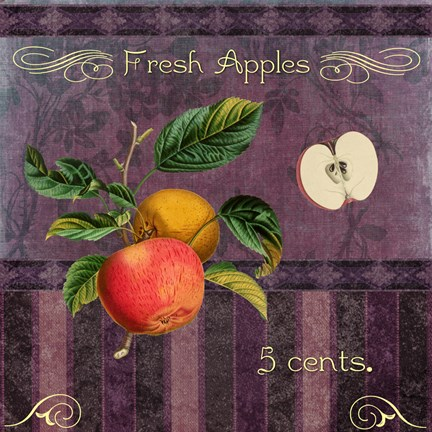 Framed Fresh Apples Print