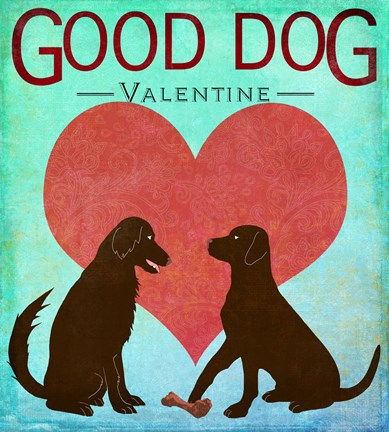 Framed Good Dog Valentine II Print