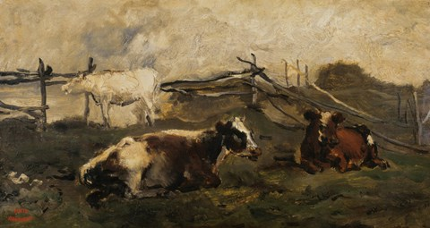 Landscape With Cows by Charles Francois Daubigny