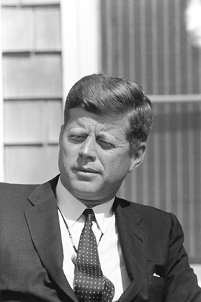 Framed Digitally Restored President John F Kennedy Print