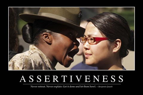 Framed Assertiveness: Inspirational Quote and Motivational Poster Print