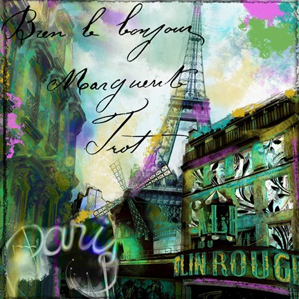 Framed To Paris With Love II Print
