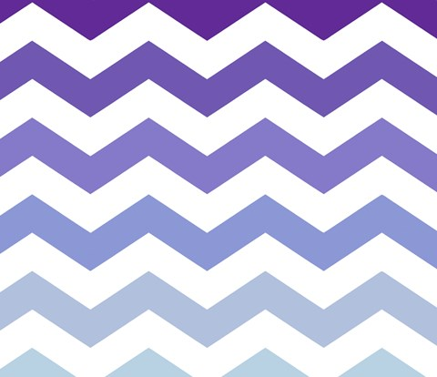 Framed Purple-Blue Chevron Print