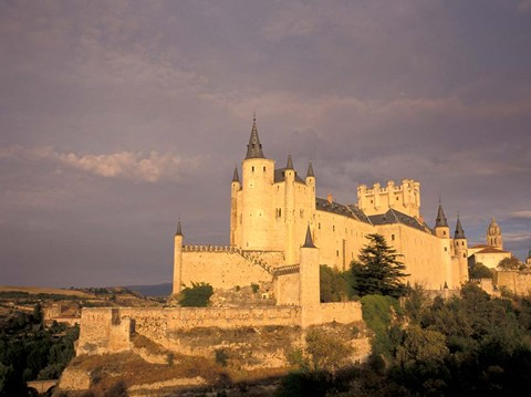 Framed Alcazar at Dusk, Segovia, Spain Print