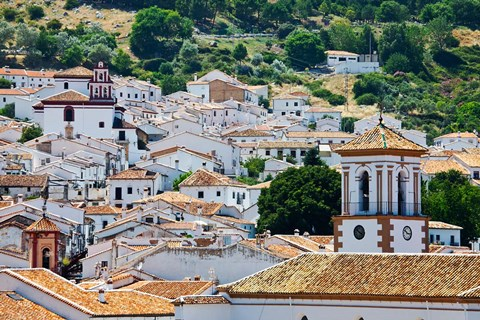 Framed Spain, Andalucia, Cadiz Province, Grazalema View of the town Print