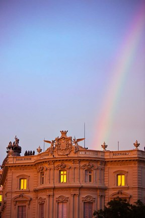 Framed Spain, Madrid, Plaza de Cibeles, Rainbow Print