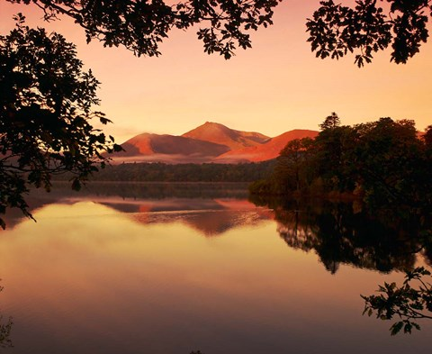 Framed Derwent Water in The Lake District, Cumbria, England Print