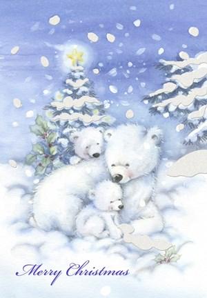 Merry Christmas Polar Bears Fine Art Print By Dbk Art