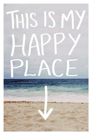 Framed This Is My Happy Place (Beach) Print