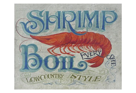 Framed Shrimp Boil Print