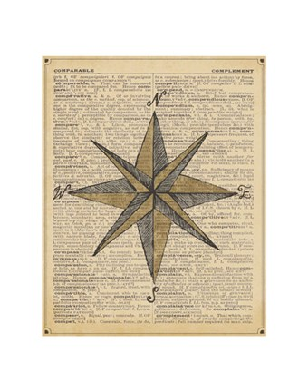 Framed Nautical Series - Nautical Star Print
