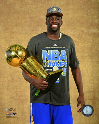 Framed Draymond Green with the NBA Championship Trophy Game 6 of the 2015 NBA Finals Print