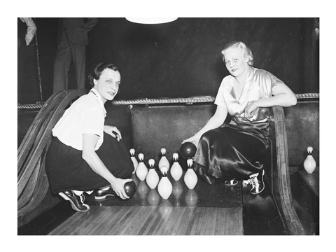 Framed Bowling Alley, 1936 Print