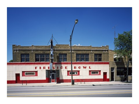 Framed Bowling alley, Chicago, Illinois Print
