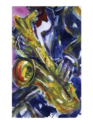 Framed Sax Essence Print