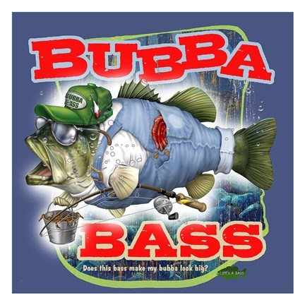 Framed Bubba Bass Print
