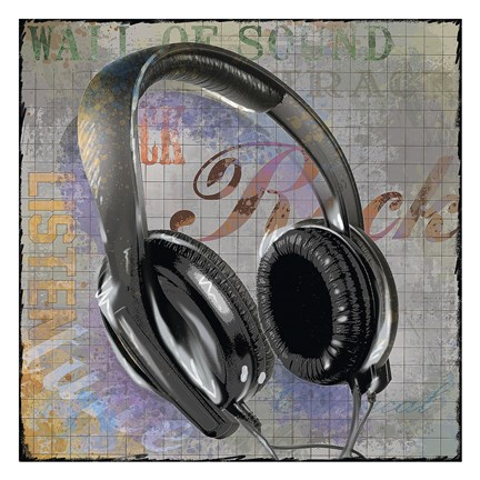 Framed Headphones Print