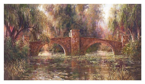 Framed Willow Bridge Print