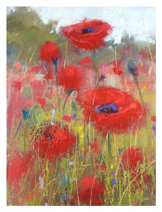 Framed In the Poppy Field Print