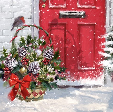 Christmas Basket Fine Art Print By The Macneil Studio At
