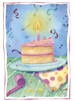Framed Birthday Cake Print