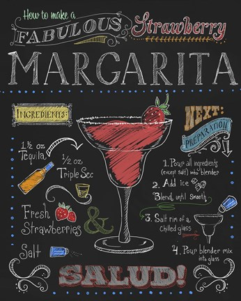 Framed Strawberry Margarita Print