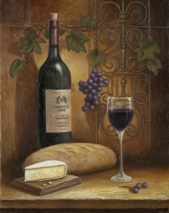 Wine And Cheese A Fine Art Print by John Zaccheo at ... Wine And Cheese Art