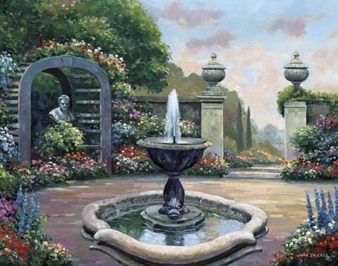 Renaissance Garden Fine Art Print By John Zaccheo At