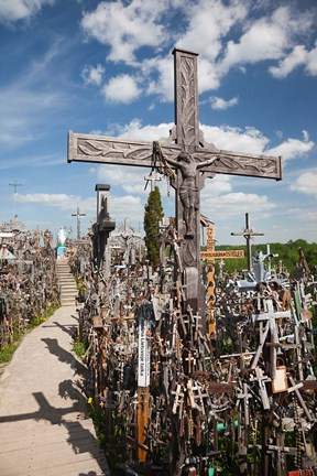 Framed Hill of Crosses, Siauliai, Central Lithuania, Lithuania II Print