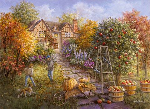 Gathering Fall Fine Art Print By Nicky Boehme At